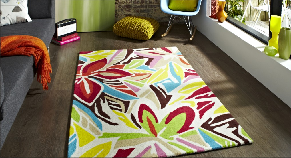 Inviting decor with colourful rugs