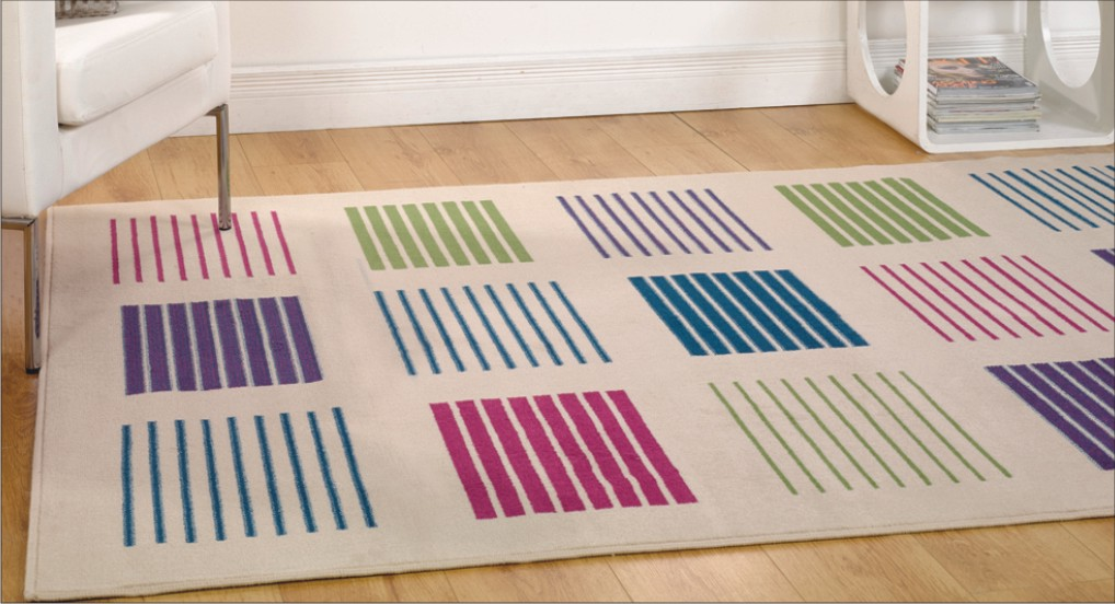 Glamourising with modern graphic area rugs