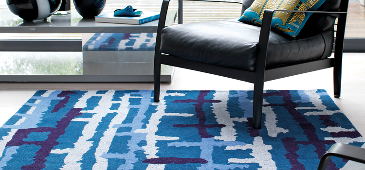 Go Natural, Let Blue Rugs enhance the beauty of your place