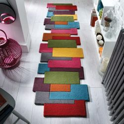 Abstract Collage Multi Runner by Flair Rugs