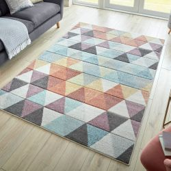 Ada Hand Carved Eliza Multi Rug by Flair Rugs