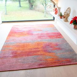 Atlantic Monetti 9116 Hibiscus Red Flatweave Rug by Louis De Poortere