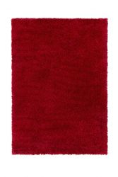 Brilliance Sparks Red Plain Shaggy Rug by Flair Rugs