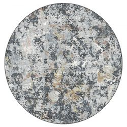 Canyon 052 - 0023 3616 Grey Abstract Contemporary Circle Rug by Mastercraft