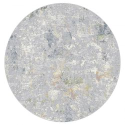 Canyon 052 - 0023 6424 Grey Contemporary Circle Rug by Mastercraft