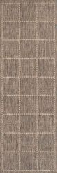 Checked Flatweave Grey Runner By Oriental Weavers