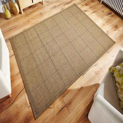 Checked Flatweave Natural Rug By Oriental Weavers