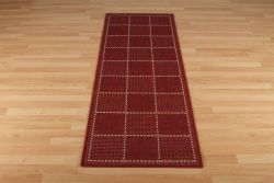 Checked Flatweave Red Runner By Oriental Weavers
