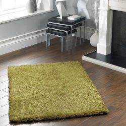 Chicago Olive Polyester Plain Rug by Origins