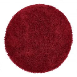 Chicago Red Polyester Circle Rug by Origins