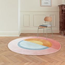 City 466137 AK200 Multi Contemporary Circle Rug by Mastercraft