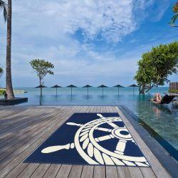 Coastal Living Wheel Navy Rug By Floorita 2