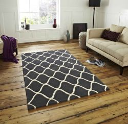 Elements EL-65 Grey Wool Rug By Think Rugs
