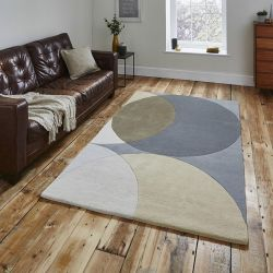 Elements EL-43 Grey Wool Rug By Think Rugs