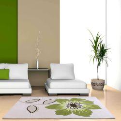 Elite Green Floral Rugs By Ultimate Rug