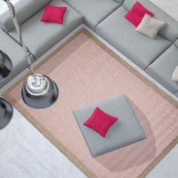 Essentials Chrome Grey Bordered Rug By Floorita 1