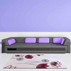 Etiquette Plum Floral Rugs By Ultimate Rug 1