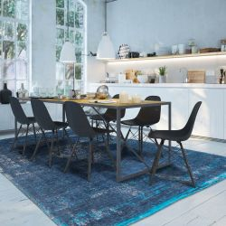 Fading World 8254 Blue Night Designer Luxury Rug By De Poortere