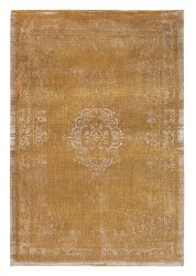 Fading World Medallion 9145 Spring Moss Ochre Rug by Louis De Poortere