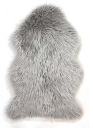 Faux Fur Sheepskin Grey Rug By Flair Rug