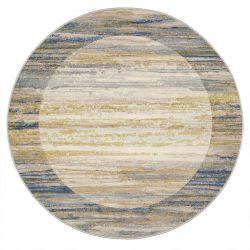 Galleria 063 0138 6191 Beige Blue Bordered Circle Rug by Mastercraft