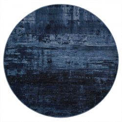 Galleria 063 0378 5131 Blue Abstract Circle Rug By Mastercraft
