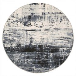Galleria 063 0378 6656 Slate Grey Abstract Circle Rug By Mastercraft