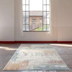 Galleria 063 0393 6656 Blue Beige Abstract Runner by Mastercraft