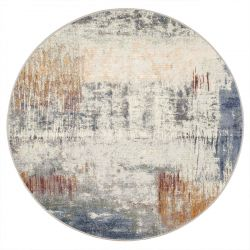 Galleria 063 0393 6656 Blue Beige Abstract Circle Rug by Mastercraft