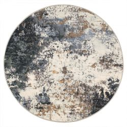 Galleria 063 0395 7656 Blue Abstract Circle Rug by Mastercraft
