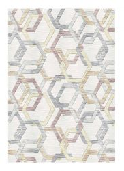 Galleria 063 0587 6747 Cream Geometric Rug by Mastercraft