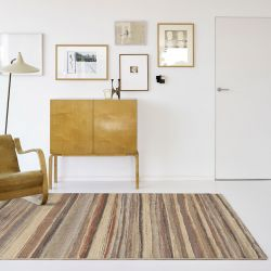 Galleria 079 0164 4848 Beige Striped Rug by Mastercraft