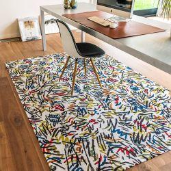 Gallery Graffito 9144 Street Graph Flatweave Rug by Louis De Poortere