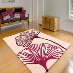 Gem Plum Floral Rugs By Ultimate Rug