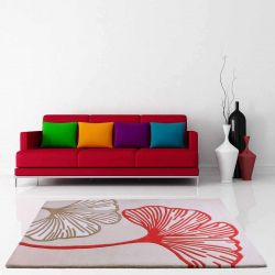 Gem Red Floral Rugs By Ultimate Rug