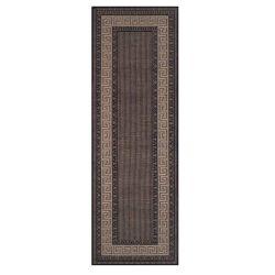 Greek Key Flatweave Bordered Black Runner By Oriental Weavers