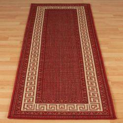 Greek Key Flatweave Bordered Red Runner By Oriental Weavers