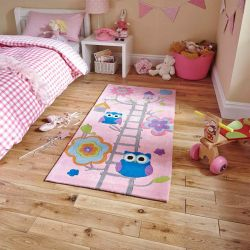 Hong Kong HK5648 Pink Children Rug By Think Rugs