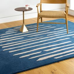 Island Blue Handtufted Wool Rug by Claire Gaudion