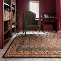 Kashqai 4301 500 Bordered Traditional Wool Runner by Mastercraft