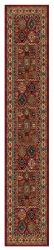 Kashqai 4306 300 Red Terracotta Traditional Wool Runner By Mastercraft