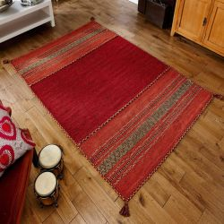 Kelim Red Flatweave Rug By Oriental Weavers