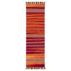 Kelim Stripe Red Flateweave Runner by Oriental Weavers