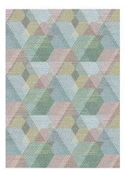 Liberty 034-0029 6161 Blue Geometric Contemporary Rug by Mastercraft