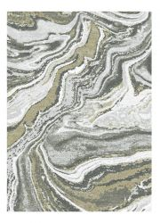 Liberty 034-0040 6191 Gold Abstract Contemporary Rug by Mastercraft
