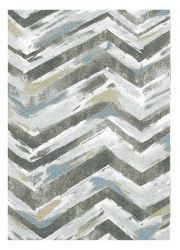 Liberty 034-0043 6151 Grey Striped Contemporary Rug by Mastercraft