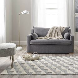 Maison 7730A Light Grey White Geometric Rug by Mastercraft