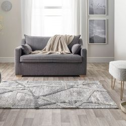 Maison 7813A Dark Grey Light Grey Abstract Rug by Mastercraft