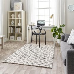 Maison 7878A White Light Grey Geometric Rug by Mastercraft