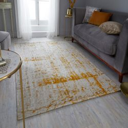 Manhattan Carter chenille Ochre Rug by Flair Rugs